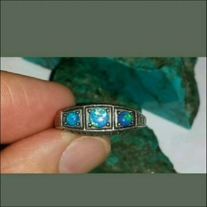 Antique 1890's Early Victorian Era Black Opal and